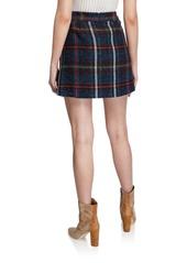 Veronica Beard Lucy Check Mini Skirt