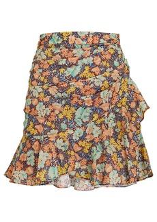 Veronica Beard Lyndsay Floral Mini Skirt