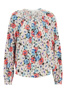 Veronica Beard Madge Silk Floral Blouse