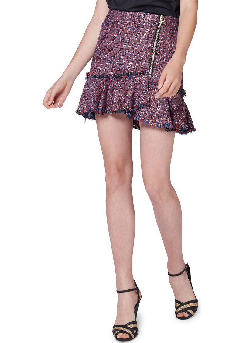 Veronica Beard Madra Boucle Mini Skirt