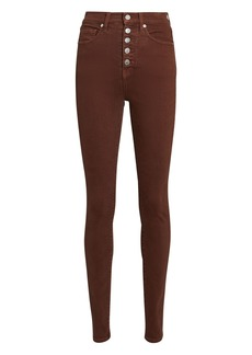 Veronica Beard Maera High-Rise Skinny Jeans