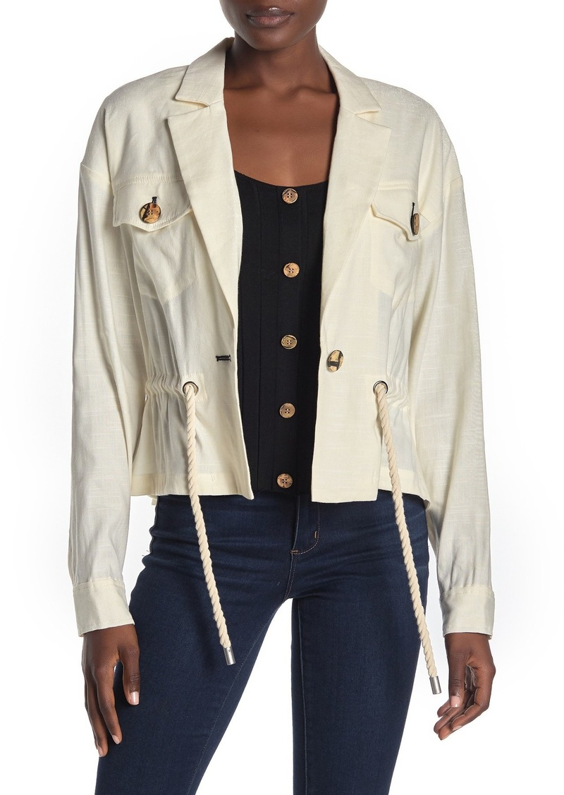 Veronica Beard Magni Drawstring Waist Jacket