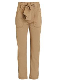 Veronica Beard Mahary Tie-Waist Pants