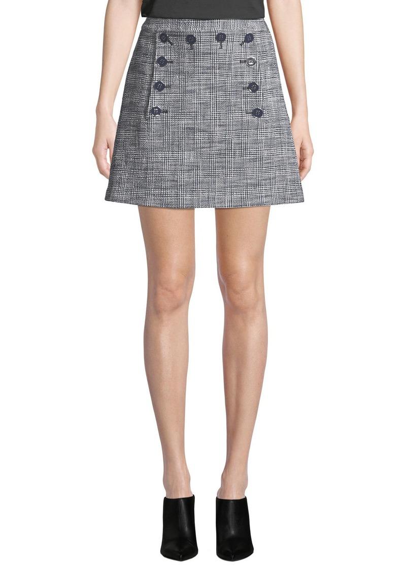Veronica Beard Maida Check Sailor Short Skirt