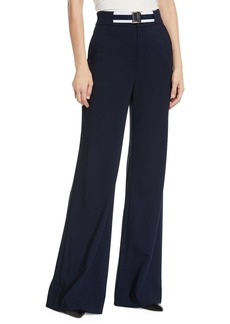 Veronica Beard Maldon Belted High-Rise Wide-Leg Pants