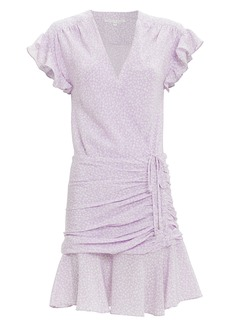 Veronica Beard Marla Lavender Floral Dress