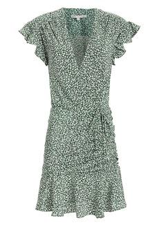 Veronica Beard Marla Green Floral Dress