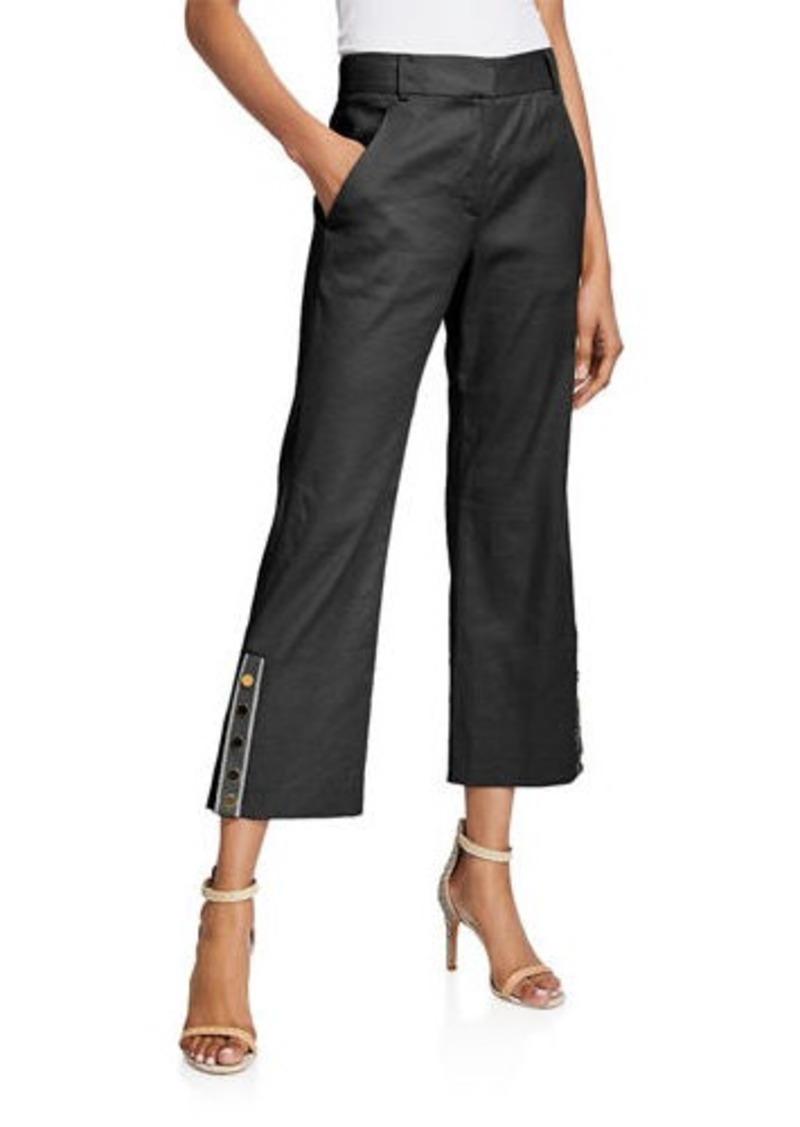 Veronica Beard Martin Cropped Flare Pants