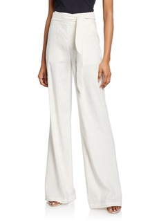 Veronica Beard Melika Belted Wide-Leg Pants
