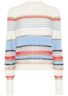 Veronica Beard Meredith striped cotton-blend sweater