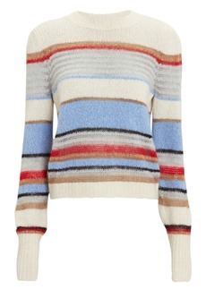 Veronica Beard Meredith Striped Crew Sweater