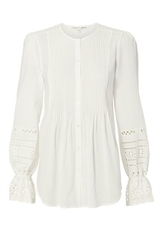 Veronica Beard Mili Eyelet Top