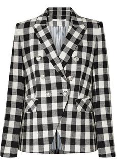 Veronica Beard Miller Dickey Gingham Linen-blend Blazer