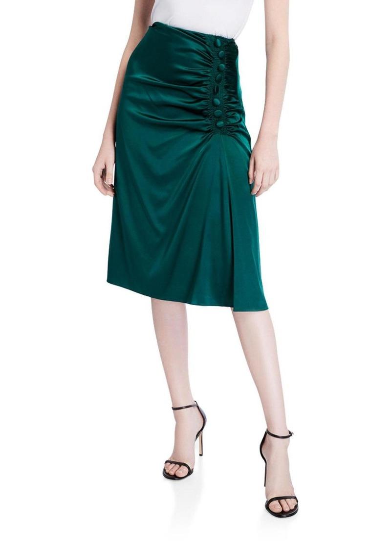 Veronica Beard Minetta Gathered Silk Skirt