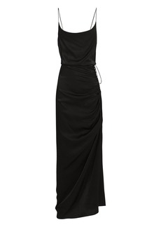 Veronica Beard Natasha Ruched Satin Dress
