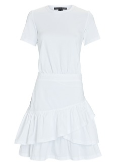 Veronica Beard Noha Mixed Media T-Shirt Dress