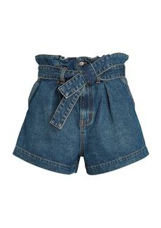 Veronica Beard Nori Paperbag Denim Shorts