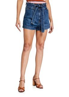 Veronica Beard Nori Paperbag Shorts