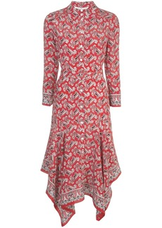 Veronica Beard paisley shirt dress