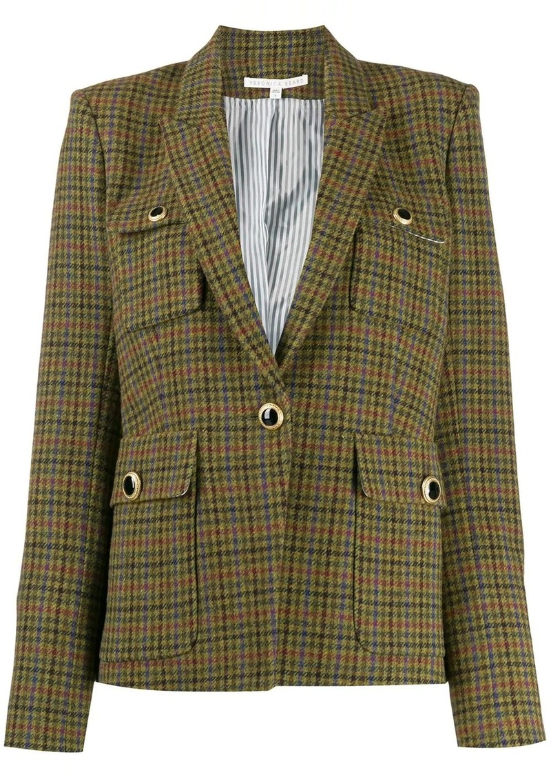 Veronica Beard plaid fitted blazer