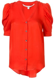 Veronica Beard puffed-shoulder shirt