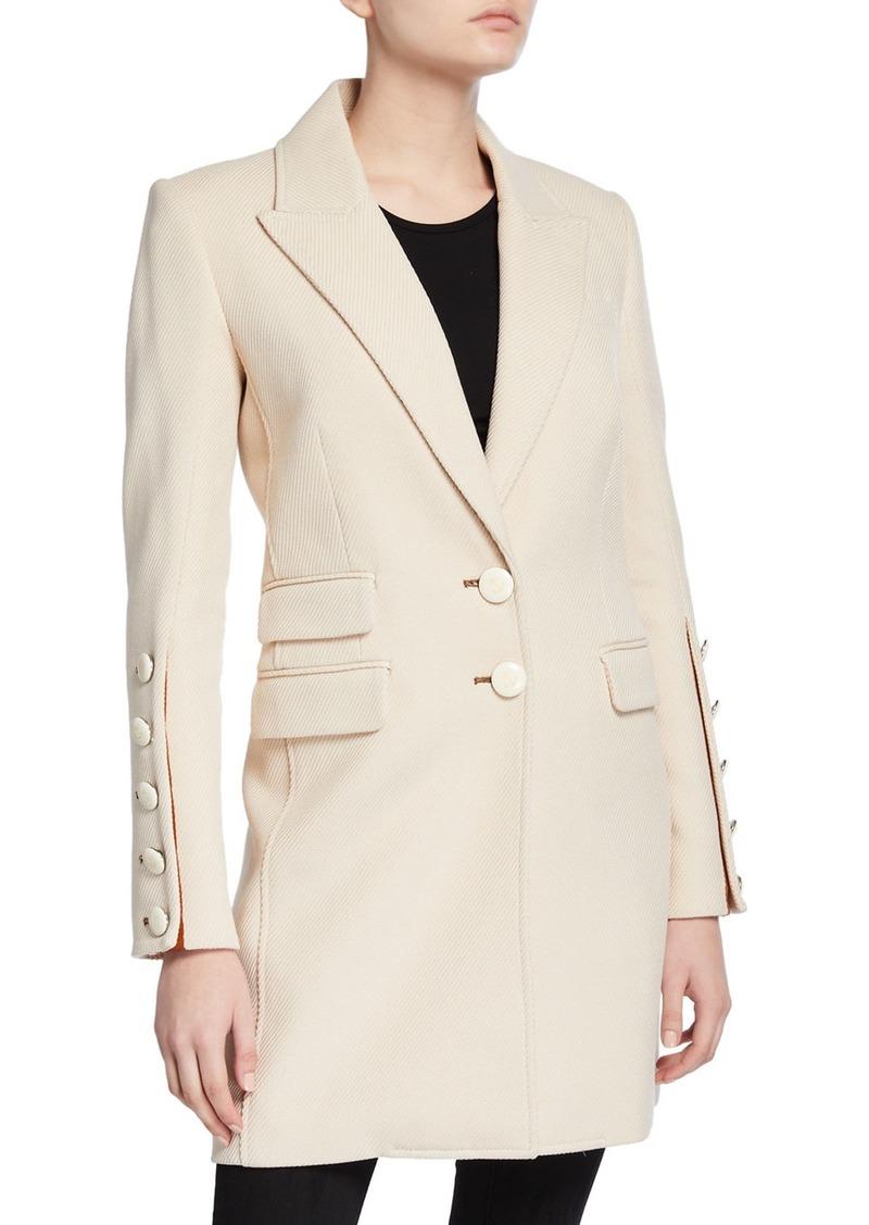Veronica Beard Reece Two-Button Long Coat