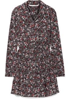 Veronica Beard Rory Floral-print Silk-blend Crepe De Chine Mini Dress