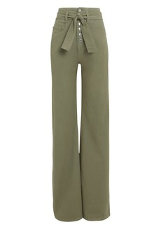 Veronica Beard Rosanna Wide Leg Denim Pants