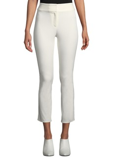 Veronica Beard Rumi High-Waist Skinny Cotton Pants