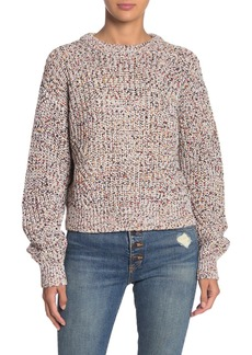 Veronica Beard Ryce Mixed Knit Pullover Sweater