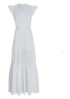 Veronica Beard Satori Cotton Eyelet Maxi Dress