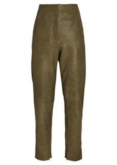 Veronica Beard Sethe High-Rise Leather Pants