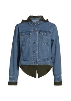 Veronica Beard Shani Denim Twill Combo Jacket