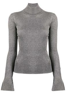 Veronica Beard shimmer ribbed knit jumper