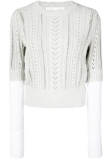 Veronica Beard shirt cuff knitted top