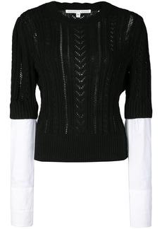 Veronica Beard shirt cuff knitted top