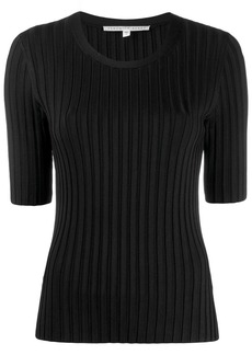 Veronica Beard short-sleeve fitted sweater
