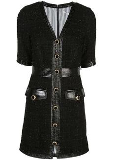 Veronica Beard Simona metallic tweed dress
