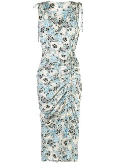 Veronica Beard sleeveless ruched floral dress