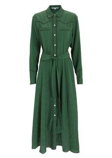 Veronica Beard Spur Green Midi Dress
