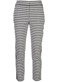 Veronica Beard stripe detail check trousers