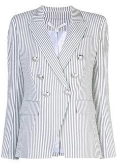 Veronica Beard striped double-breasted blazer