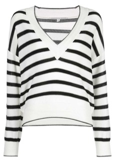 Veronica Beard striped V-neck knit top