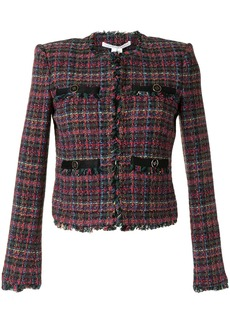 Veronica Beard structured shoulders tweed jacket