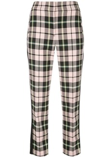 Veronica Beard tartan pattern trousers