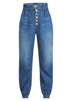 Veronica Beard Tedi Paperbag Waist Jeans