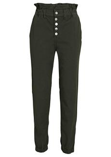 Veronica Beard Tedi Tapered Paperbag Jeans