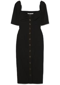 Veronica Beard Trace Button-detailed Cady Dress