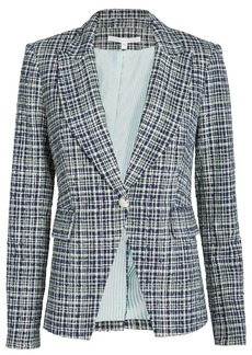 Veronica Beard Tweed Cutaway Dickey Blazer