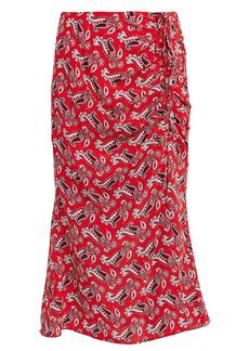 Veronica Beard Vanity Silk Paisley Midi Skirt